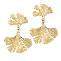Susan Shaw Jewelry Ginkgo Earrings (1069G)