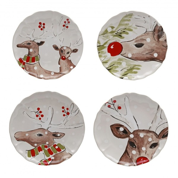 Casafina > Deer Friends White > Salad (Sold Individually)