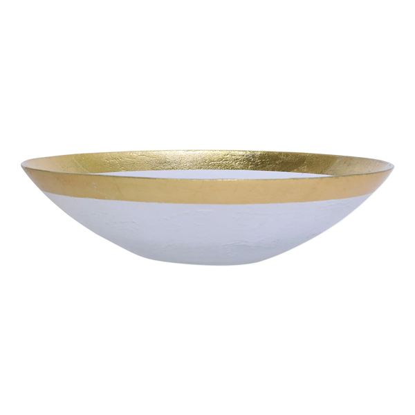Vietri > Rufolo Glass Gold > Organic Large Bowl