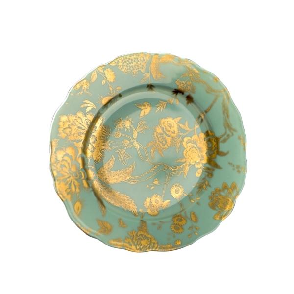 Phillipe Deshoulieres > Jardin Secret > Accent Plate (Turq/Gold)