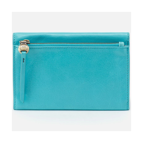 Hobo Might Trifold Wallet - Aqua