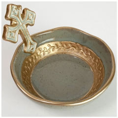 Pamela Sack Small Cross Bowl (French Blue)