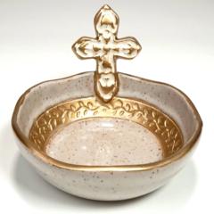 Pamela Sack Small Cross Bowl (Ivory)