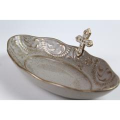 Pamela Sack Cross Prayer Bowl (Large/Ivory)