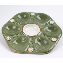 Pamela Sack Oyster Plate (French Green)
