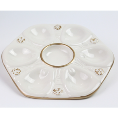 Pamela Sack Oyster Plate (Ivory)