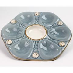 Pamela Sack Oyster Plate (Sky Blue)