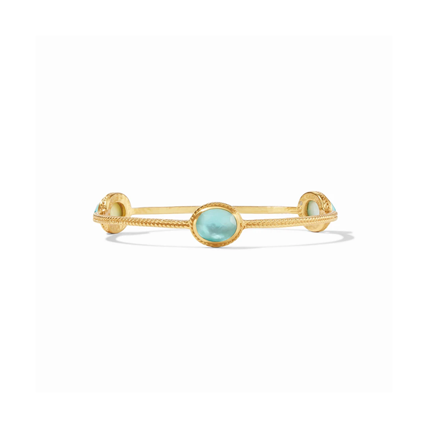 Julie Vos Calypso Bangle - Iridescent Bahamian Blue