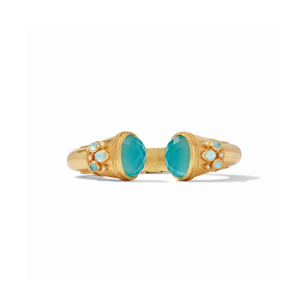 Julie Vos Cassis Hinge Cuff - Iridescent Bahamian Blue