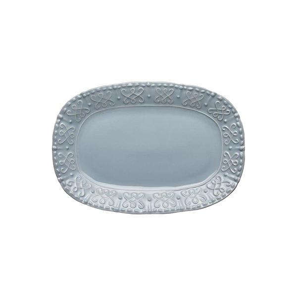 Skyros > Historia Blue Cashmere > Small Oval Platter