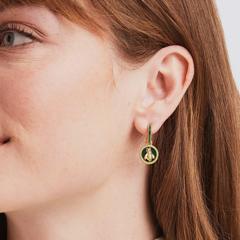 Julie Vos Bee Cameo Hoop & Charm Earring (ER703GEBK00)