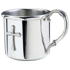 Engraved Pewter Easton Cross Baby Cup (PBCE-C)