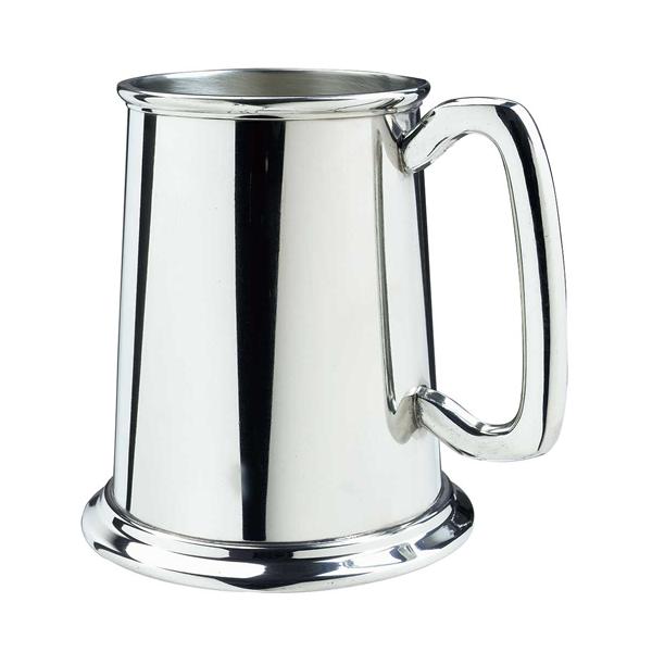 Engraved Pewter Glass Bottom Tankard (WP-951B)