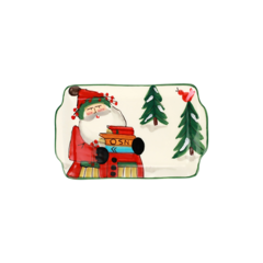Vietri Old St Nick 2021 Limited Edition Rectangular Plate  (OSN-78109-LE)
