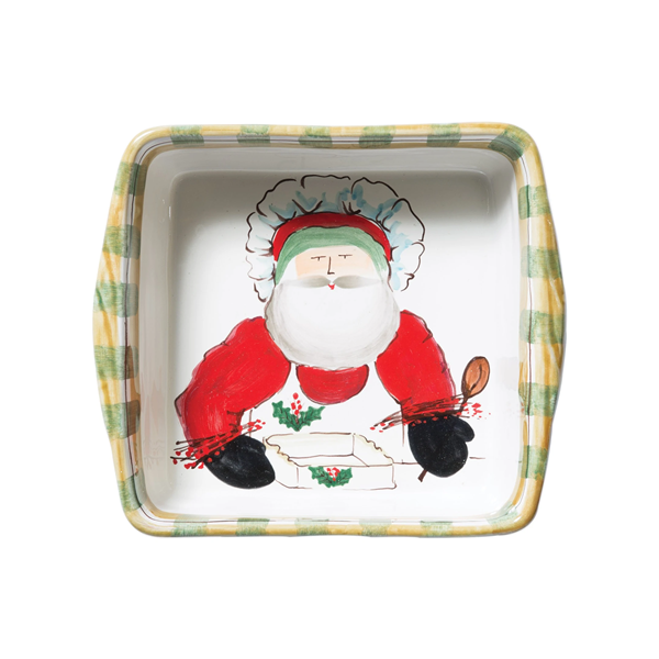 Vietri Old St Nick Square Baker w/ Chef (OSN-78048)