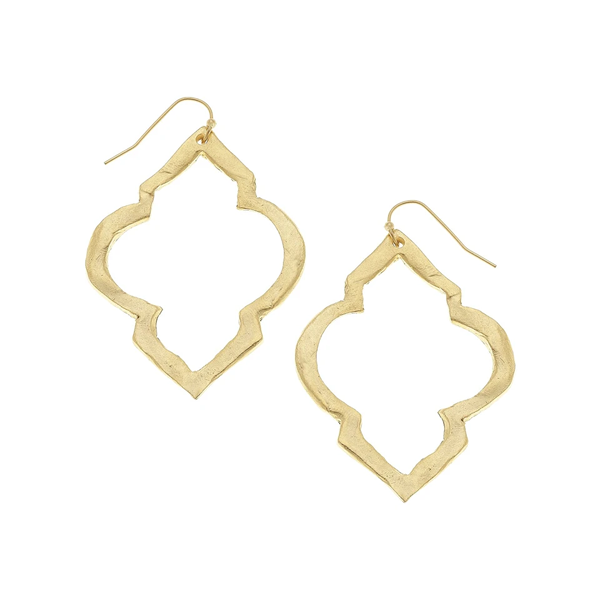 Susan Shaw Jewelry Gold Scallop Cut Out Earrings (1190G)