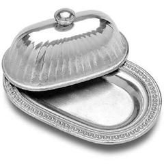 Wilton Armetale Flutes and Pearls Butter Dish with Lid (272065)