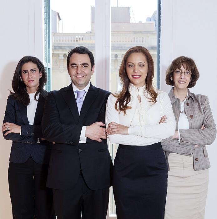 El equipo profesional del despacho Marin&Pasalodos Abogados