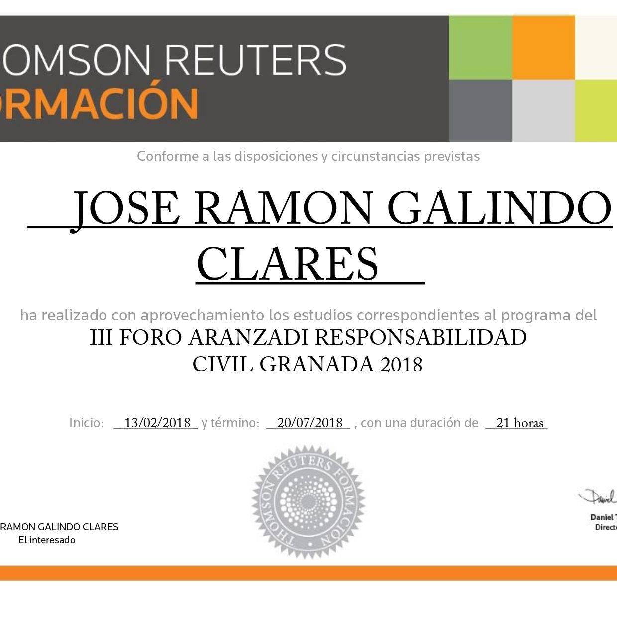 Diploma Foro III  Anual sobre Responsabilidad Civil