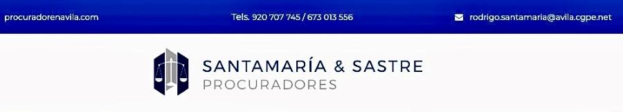 Santamaría & Sastre Procuradores Tarjeta Visita