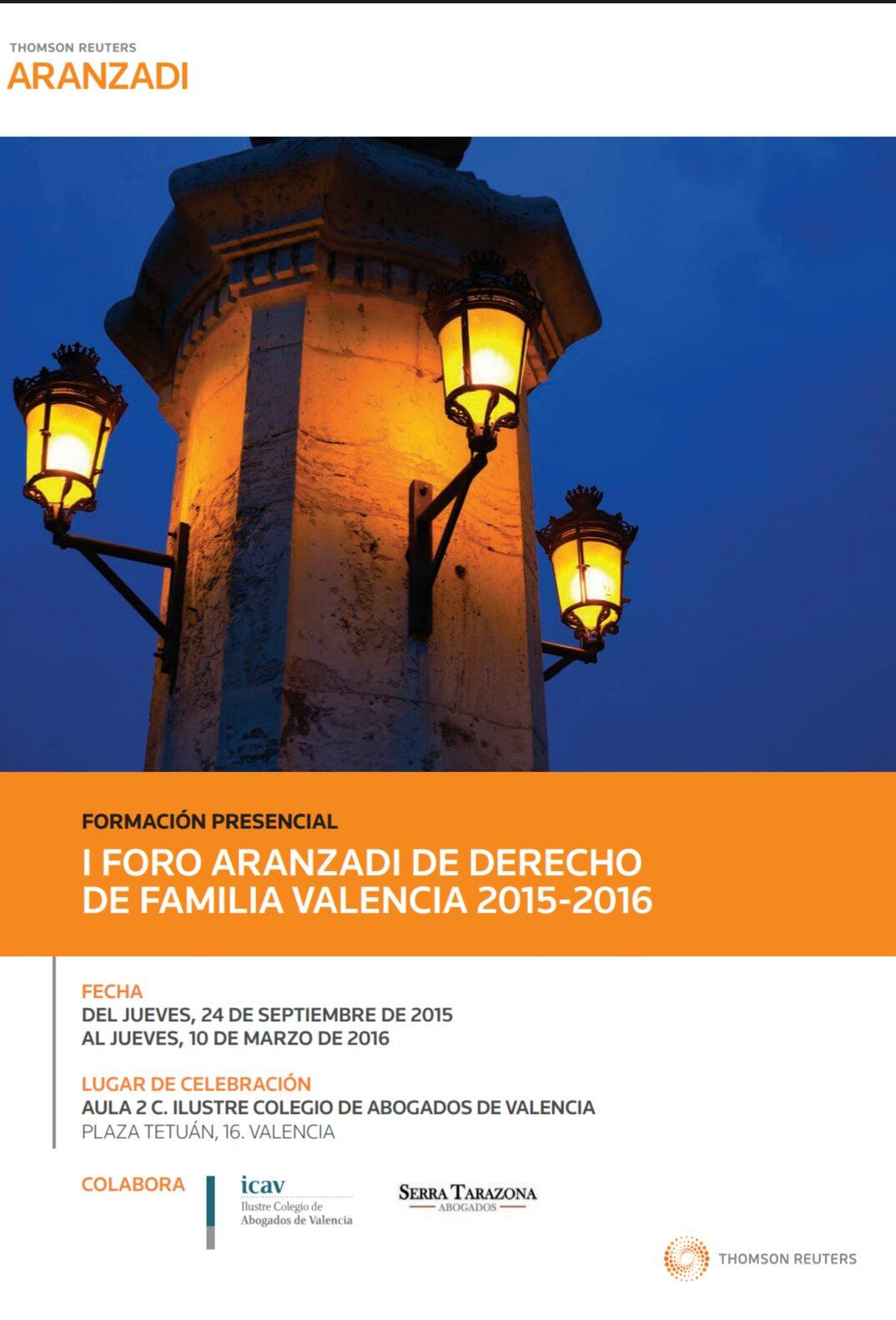 Nuestro Despacho colaborador del Foro de Familia Aranzadi en Valencia