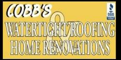 Website for Cobb's Watertight Roofing & Home Renovations
