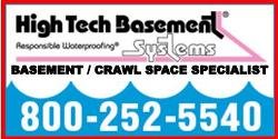 Website For High Tech Basement Systems