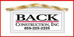 Website for BACK Construction, Inc.