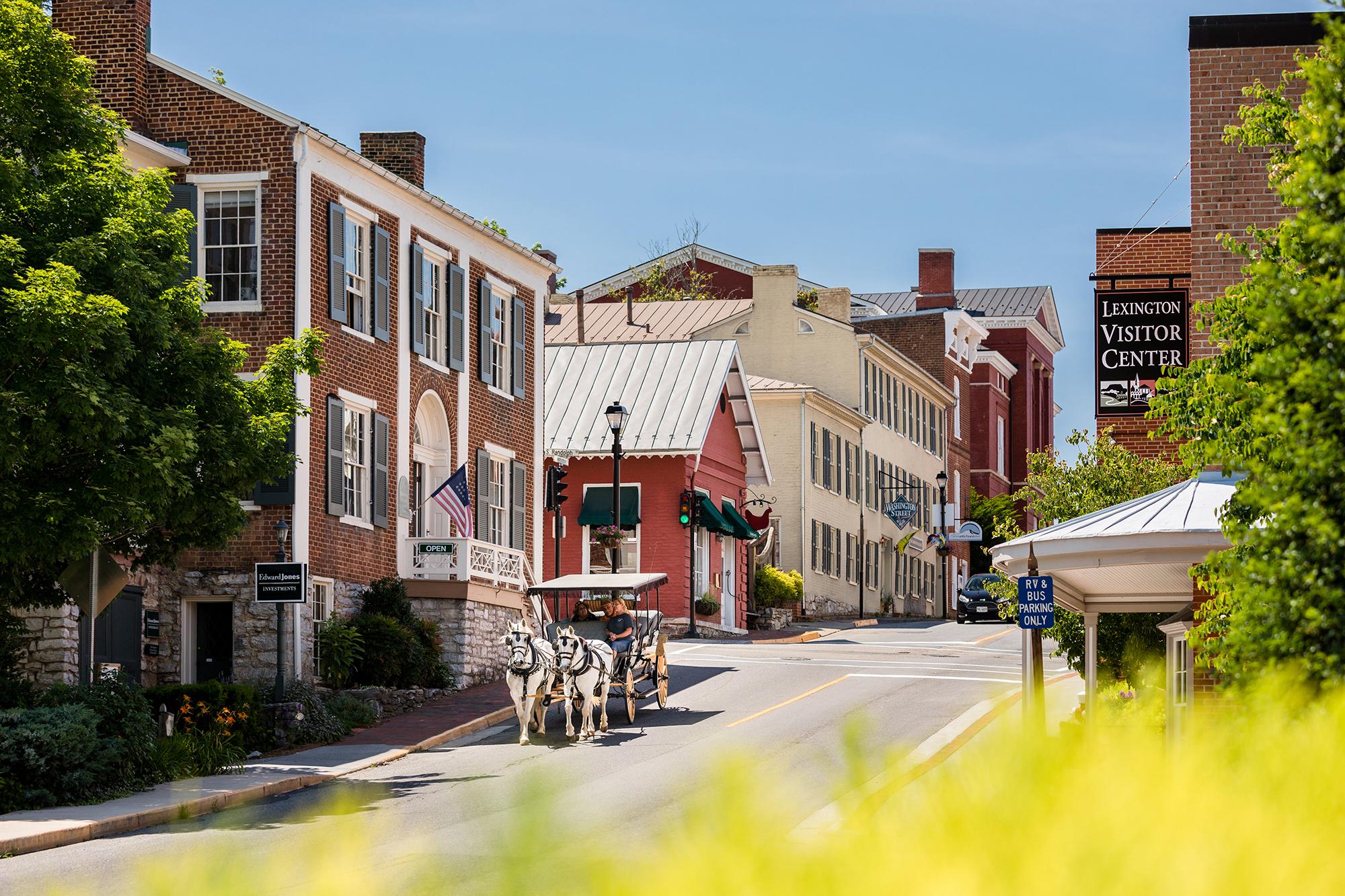 Downtown Lexington, Virginia Carriage Ride