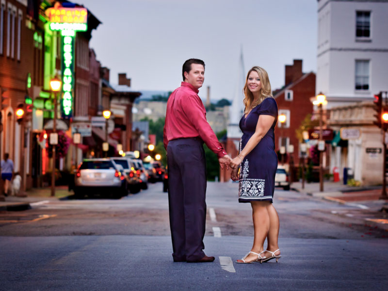 Lexington VA Downtown Couple on Main Street