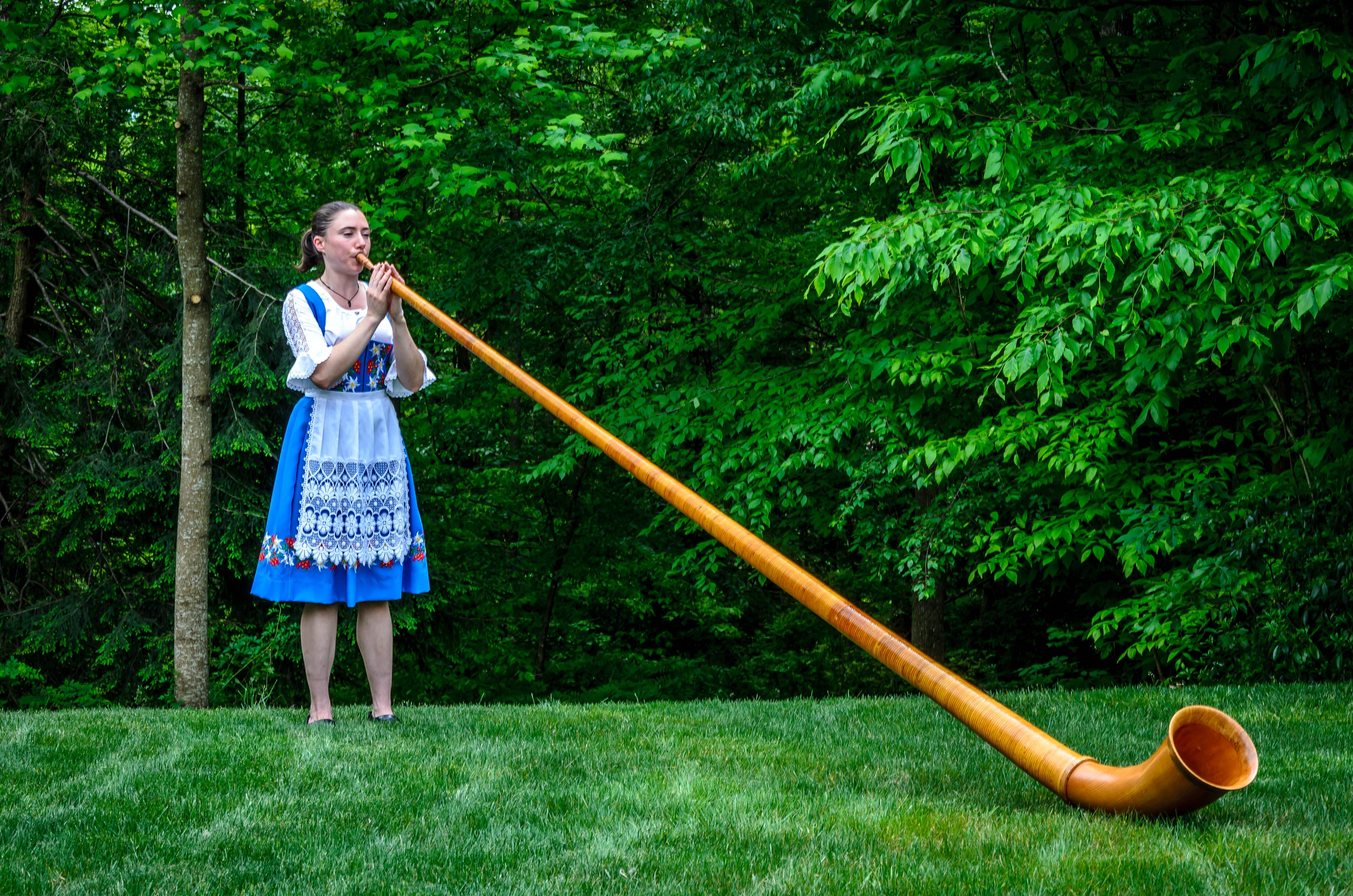 Monica Hambrick, Alphornist