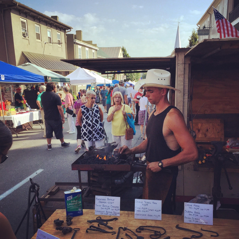 Blacksmith at Rockbridge Community Festival