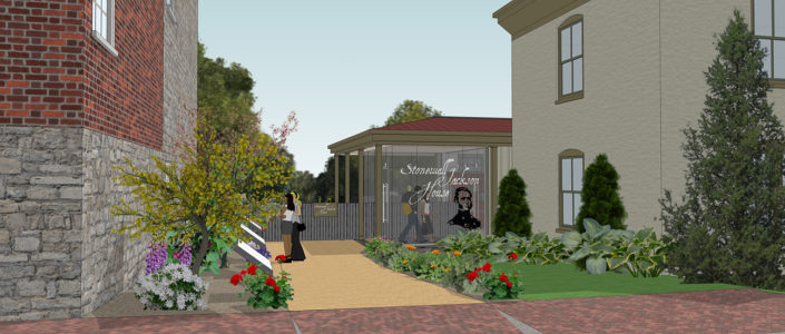 Artist rendering of the new Stonewall Jackson House entrance from Washington Street.