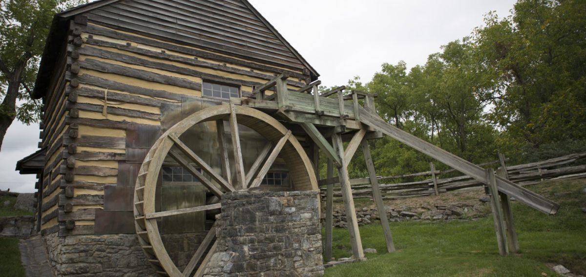Cyrus McCormick Farm Mill Wheel