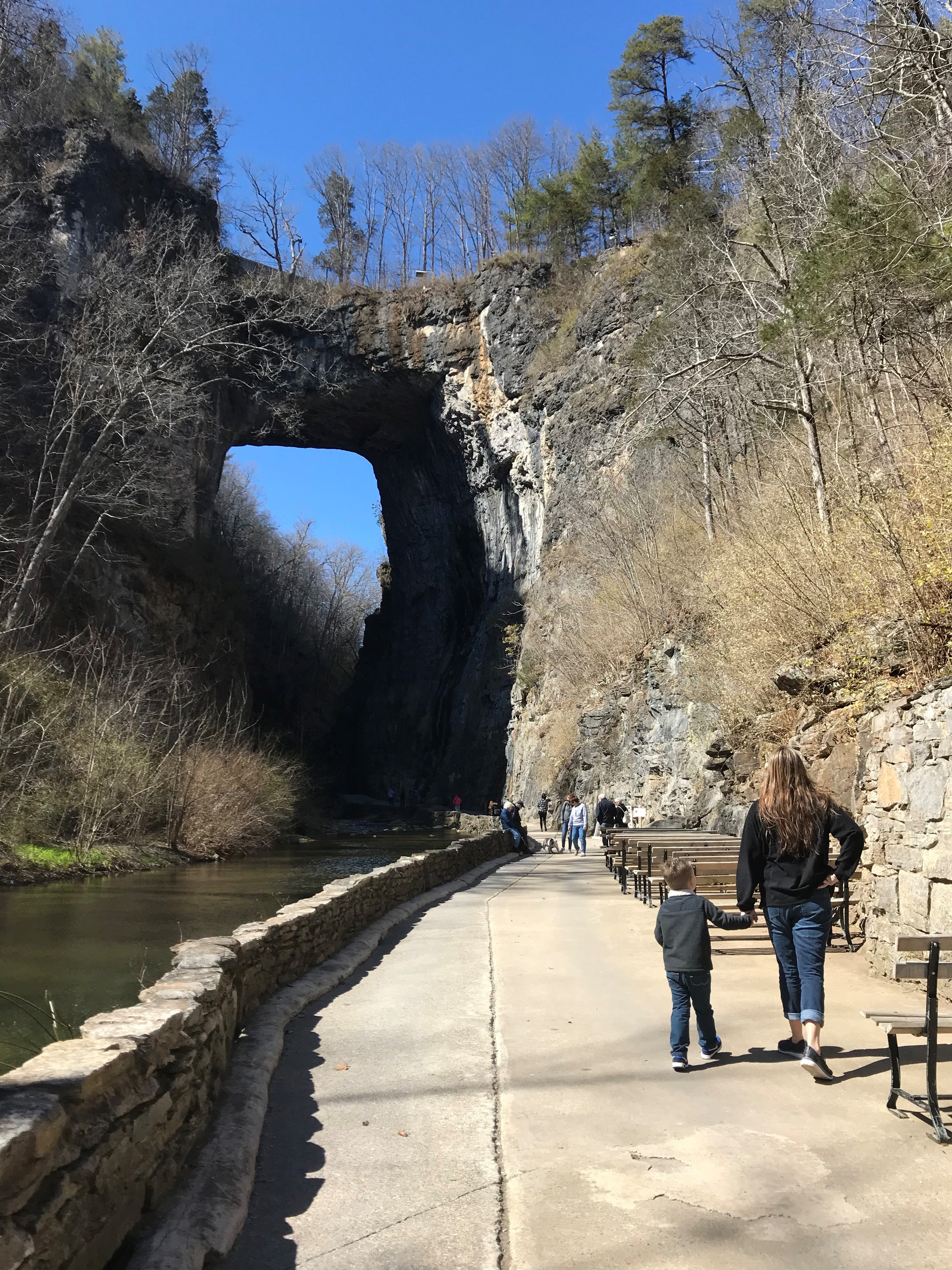 Natural Bridge State Park in Winter