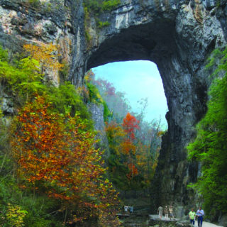 Natural Bridge VA The Bridge in Autumn