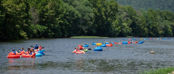 Tubing with Wilderness Canoe Company