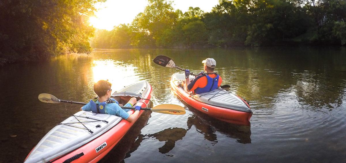 Kayak MauryRiver FatherSon