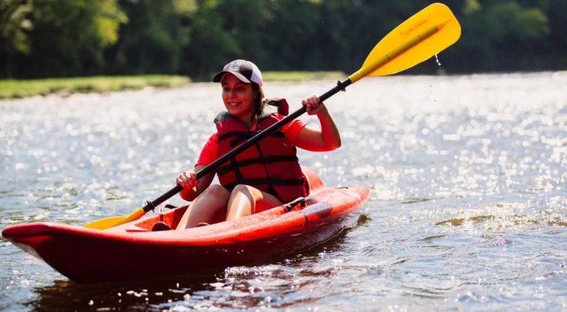 Paddling JamesRiver Kayak Woman