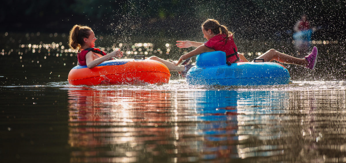 Tubing JamesRiver girls