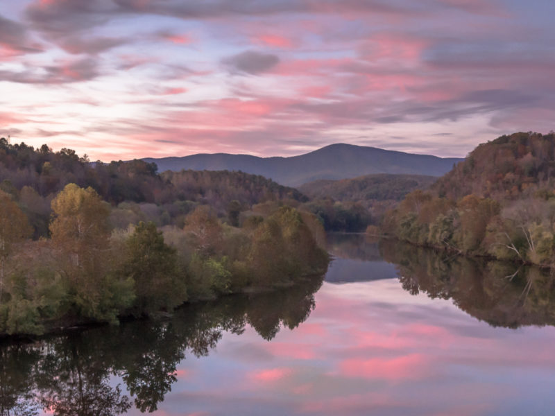 Lexington VA Mountain & River Sunset