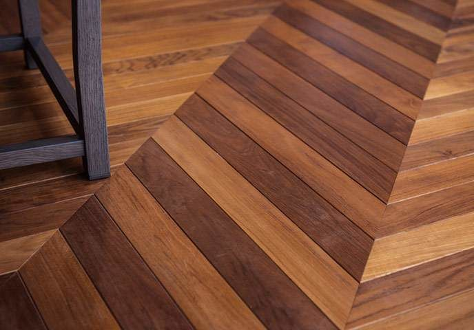 """Subtle Lexus """"L"""" shapes can be discerned in the design motifs of the herringbone flooring and carpets. """"If the references were too obvious, it would only appeal to Lexus fans,"""" explains Katayama, who enjoys visiting a few times a week."""