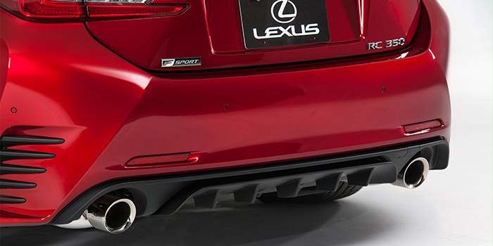 2018 Lexus RC F SPORT Performance Exhaust and Rear Bumper Diffuser