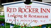 Thumb the red rocker inn logo local flavor avl visit explore stay relocate asheville