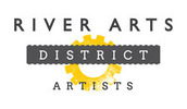 Thumb the river arts district artists inc logo local flavor avl visit explore arts asheville