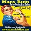 Thumb mans ruin tattoo piercing art gallery logo local flavor avl visit explore services asheville