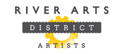 Thumb river arts district artists logo local flavor avl visit explore charity asheville