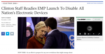 Clinton Staff Readies EMP Launch