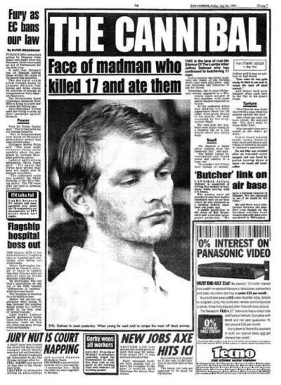 Jeffrey Dahmer, The Cannibal