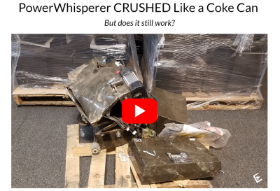 PowerWhisperer CRUSHED Like Coke Can